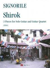 Signorile, Giorgio : Shirok. 3 Pieces for Solo Guitar and Guitar Quartet (2016)