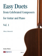 Easy Duets from Celebrated Composers for Guitar and Piano - Vol. 1