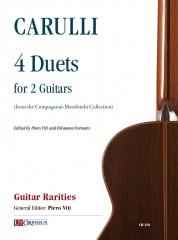 Carulli, Ferdinando : 4 Duets (from the Compagnoni-Marefoschi Collection) for 2 Guitars