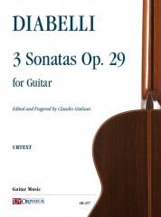 Diabelli, Anton : 3 Sonatas Op. 29 for Guitar
