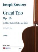 Kreutzer, Joseph : Grand Trio Op. 16 for Flute, Clarinet (Viola) and Guitar