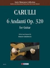 Carulli, Ferdinando : 6 Andanti Op. 320 for Guitar