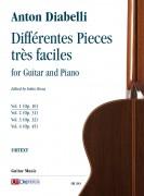 Diabelli, Anton : Différentes Pieces très faciles for Guitar and Piano - Vol. 1: Op. 10