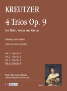 Kreutzer, Joseph : 4 Trios Op. 9 for Flute, Violin and Guitar - Vol. 4: Trio No. 4