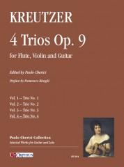 Kreutzer, Joseph : 4 Trios Op. 9 for Flute, Violin and Guitar - Vol. 4: Trio No. 4