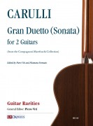 Carulli, Ferdinando : Gran Duetto (Sonata) (from the Compagnoni-Marefoschi Collection) for 2 Guitars