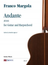 Margola, Franco : Andante (dC666) for Guitar and Harpsichord