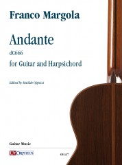 Margola, Franco : Andante (dC666) for Guitar and Harpsichord