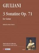 Giuliani, Mauro : 3 Sonatine Op. 71 for Guitar