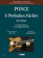 Ponce, Manuel María : 6 Preludios Fáciles for Guitar