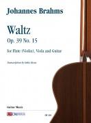 Brahms, Johannes : Waltz Op. 39 No. 15 for Flute (Violin), Viola and Guitar