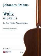 Brahms, Johannes : Waltz Op. 39 No. 15 for Flute (Violin), Viola and Guitar