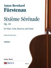 Fürstenau, Anton Bernhard : Sixième Sérénade Op. 18 for Flute, Viola, Bassoon and Guitar