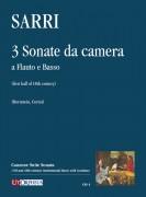 Sarri, Domenico : 3 Sonate da camera a Flauto e Basso