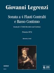 Legrenzi, Giovanni : Sonata for 4 Treble Recorders and Continuo
