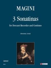 Magini, Francesco : 3 Sonatinas for Descant Recorder and Continuo