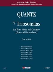 Quantz, Johann Joachim : 7 Triosonatas for Flute, Violin and Continuo (Flute and Harpsichord) - Vol. 1: Triosonata I in C maj
