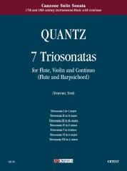 Quantz, Johann Joachim : 7 Triosonatas for Flute, Violin and Continuo (Flute and Harpsichord) - Vol. 3: Triosonata III in E flat maj