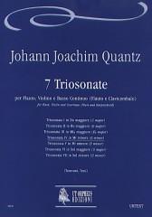 Quantz, Johann Joachim : 7 Triosonatas for Flute, Violin and Continuo (Flute and Harpsichord) - Vol. 4: Triosonata IV in E min