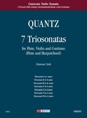 Quantz, Johann Joachim : 7 Triosonatas for Flute, Violin and Continuo (Flute and Harpsichord) - Vol. 5: Triosonata V in E min