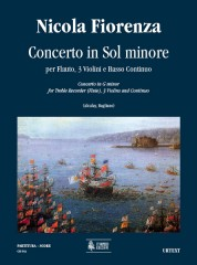 Fiorenza, Nicola : Concerto in G Minor for Treble Recorder (Flute), 3 Violins and Continuo [Score]
