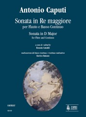 Caputi, Antonio : Sonata in D Major for Flute and Continuo