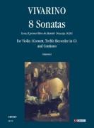 """Vivarino, Innocentio : 8 Sonatas from """"Il primo libro de Motetti"""" (Venezia 1620) for Violin (Cornett, Treble Recorder in G) and Continuo"""