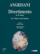 Angrisani, Giovanni : Divertimento in D major for 2 Flutes and Continuo