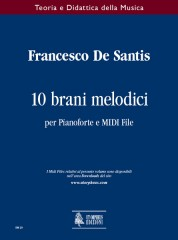 De Santis, Francesco : 10 Melodic Pieces for Piano and MIDI File