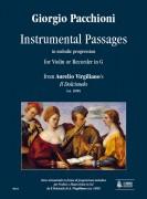 """Pacchioni, Giorgio : Instrumental Passages in melodic progression from Aurelio Virgiliano's """"Il Dolcimelo"""" (ca. 1600) for Violin or Recorder in G"""