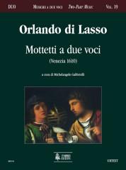 Lasso, Orlando di : Motetti a due voci (Venezia 1610)