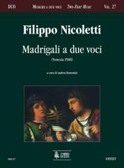 Nicoletti, Filippo : Madrigali a due voci (Venezia 1588)