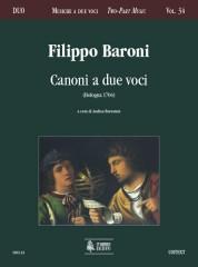 Baroni, Filippo : Canoni a due voci (Bologna 1704)