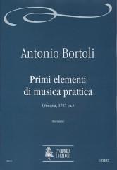 Bortoli, Antonio : Primi elementi di musica prattica (Venezia c.1707)