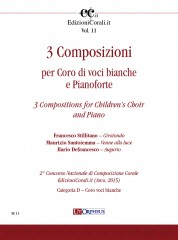 3 Compositions for Children's Choir and Piano (2nd National Choral Composition Competition EdizioniCorali.it - Cat. D)