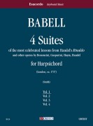 "Babell, William : 4 Suites of the most celebrated lessons from Handel's ""Rinaldo"" and other operas by Bononcini, Gasparini, Haym, Handel for Harpsichord - Vol. 1"
