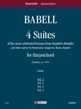 """Babell, William : 4 Suites of the most celebrated lessons from Handel's """"Rinaldo"""" and other operas by Bononcini, Gasparini, Haym, Handel for Harpsichord - Vol. 1"""