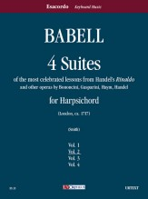 """Babell, William : 4 Suites of the most celebrated lessons from Handel's """"Rinaldo"""" and other operas by Bononcini, Gasparini, Haym, Handel for Harpsichord - Vol. 2"""
