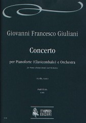 Giuliani, Giovanni Francesco : Concerto Op. XII for Piano (Harpsichord) and Orchestra [Score]