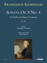 Geminiani, Francesco : Sonata Op. 5 No. 4 (H. 112) for Violin and Basso Continuo
