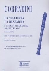 Corradini, Nicolò : La Visconta, La Bizzarra. 2 Instrumental four-part Canzonas (Venezia 1624) for Recorder Quartet (SATB)