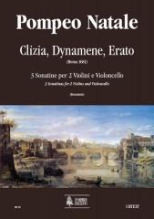 Natale, Pompeo : Clizia, Dynamene, Erato. 3 Sonatinas (Roma 1681) for 2 Violins and Violoncello