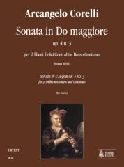 Corelli, Arcangelo : Sonata in C Major Op. 4 No. 3 for 2 Treble Recorders and Continuo