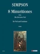 "Simpson, Christopher : 8 Minuritiones from ""The Division Viol"" for Viol and Continuo"