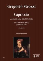 Strozzi, Gregorio : Capriccio con partite sopra Ut Re Mi Fa Sol La (Napoli 1687) for 4 Recorders (SATB)