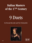Italian Masters of the 17th century : 9 Duets for Descant Recorder and Viol (Violoncello)