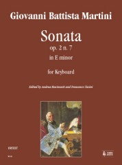 Martini, Giovanni Battista : Sonata Op. 2 No. 7 in E Minor for Keyboard
