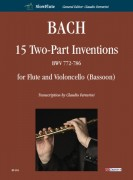 Bach, Johann Sebastian : 15 Two-Part Inventions BWV 772-786 for Flute and Violoncello (Bassoon)