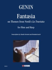 "Genin, Paul Agricole : Fantasia on Themes from Verdi's ""La Traviata"" for Flute and Harp"