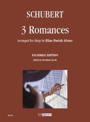 Schubert, Franz : 3 Romances arranged for Harp by Elias Parish Alvars